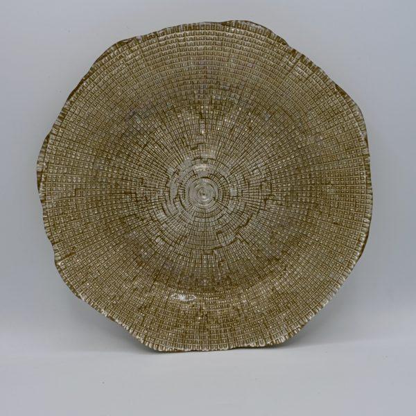 bord glas goud
