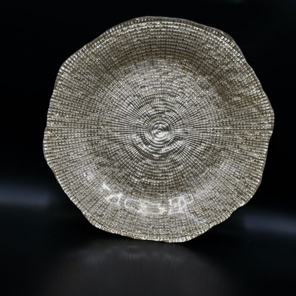 Bord glas goud diamanté